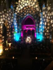 Christmas Lighting at Leicester Cathedral