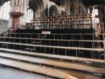Image: Large Choir Tiering in Peterborough Cathedral